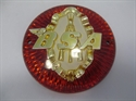 Picture of BADGE, TANK, RED/GOLD, 3 1/4