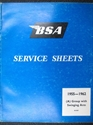 Picture of SERVICE SHEETS, BSA, 55-62