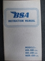 Picture of H/BOOK, 62-6, BSA, A50/A65