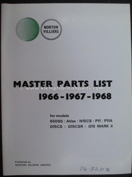 Klempf's British Parts  PARTS BOOK, 66-68, ATLAS